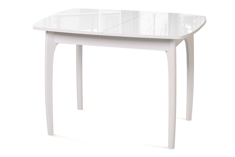 Стол обеденный №40 ДН4 белый/стекло белое Ангстрем фото