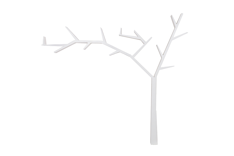 Полка SIGNAL POPRAD левая, белый воск Ангстрем фото