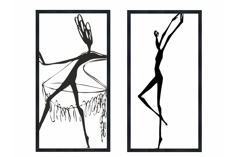 Набор постеров Танцующие девушки Ангстрем фото